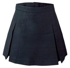 Falda Plizada 4 Tablas Azul Mujer