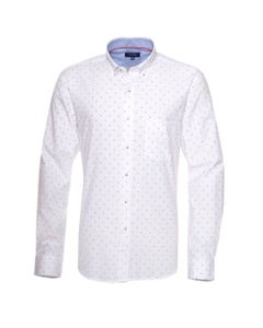 Camisa Oxford Estampada Button Down  Slim Fit