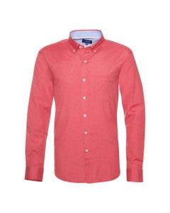 Camisa Oxford Estampada Button Down  Slim Fit