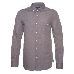 Camisa Denim Look Slim Fit