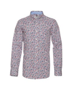 Camisa Trevira Estampada Manga Larga Regular Fit