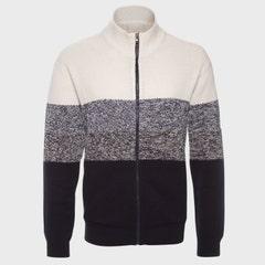 Sweater Full Zipper Cuello Medio